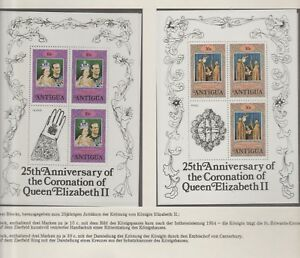AX 110 Antigua 1978 Coronation Elisabeth II 25th Anniversary (MNH) 2x block