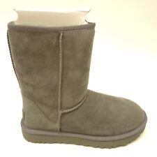 UGG Classic Sz Short II Gray Suede Shearling Boots 1016223 Womens New