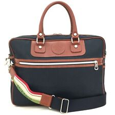 New OROBIANCO Nylon Leather Business Briefcase Bag w/Shoulder Strap /  3995
