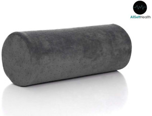 Cervical Round Neck Roll Pillow Cylinder Bolster with Removable Washable Cover
