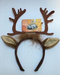 NEW Antlers Deer ELOPE Headband  Reindeer Costume Faux Fur Brown #103100 Animal