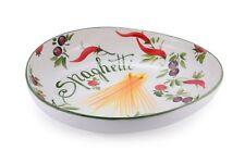BASSANO große bemalte Pasta Schale asymetrisch Italienische Keramik 37x36x8,5
