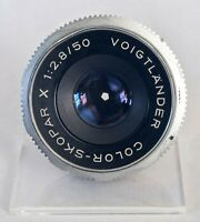 Vintage Deckel Lens - Voigtlander Color Skopar X 50mm f2.8 - Clean Glass