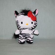 "Plush Jakks Pacific Sanrio 2010 Hello Kitty Zebra 7"""