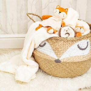 sass and belle Storage Belly Basket with handles fox design slighty damaged