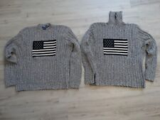 Polo Ralph Lauren Vintage 90' USA flag sweaters 2, turtleneck + regular XXL