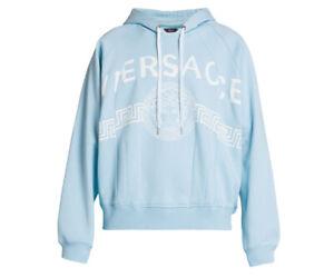 Versace Split Logo Cotton Hoodie $1025 XXL