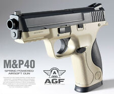Academy Korea M&P40 Tan Full Size Plastic Airsoft Pistol BB Replica Hand Toy Gun