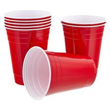 Vaily Red Cups Partybecher Rot 50 Stück (473ml/16oz) für Bier Beer Pong