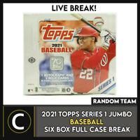 2021 TOPPS SERIES 1 JUMBO BASEBALL 6 BOX (FULL CASE) BREAK #A1059 - RANDOM TEAMS