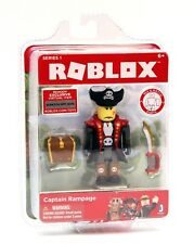 NEW Roblox Series 1 Action Figure - Captain Rampage - Jazwares with Virtual Item