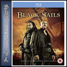 BLACK SAILS - COMPLETE SERIES 1 2 & 3  **BRAND NEW BLURAY BOXSET**