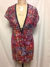 Profile By Gottex Coverup w/Cinched Waist and Tieback Medium E410-3024 Pink NWT