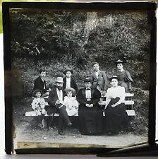 Vintage glass slide, Family photo.