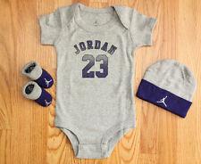 Air Jordan Jumpman Baby Girl 3 Piece Set ~ Heather Gray & Purple ~ 23 ~