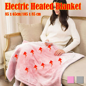 Electric Heated Blanket Throw Over Cosy Fleece Flannel Washable Pad Bed 220V NEW