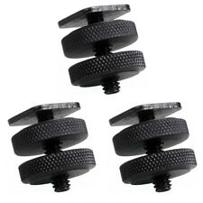 "Phot-R 3x 1/4""-20 Dual Nuts Tripod Mount Screw to Flash Camera Hot Shoe Adapter"