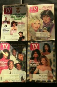 LOT OF 4 T.V. GUIDES ISSUES 1988 & 1989