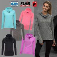 AWDis Ladies Cool Hoodie Activewear Cool Neck Sports Gym Hood JC038 Ladies