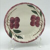 "Vintage BLUE RIDGE SOUTHERN POTTERIES Cherry Cobbler Hand Painted 5"" Berry Bowl"