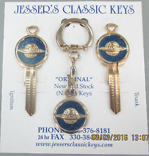 Oldsmobile Globe Logo B-10 Ultimate Classic Keys Set 1936-1963 1964 1965 1966