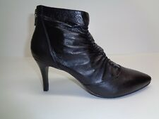 Adrianna Papell Size 9 M NIKKI Black Leather Ankle Boots New Womens Shoes