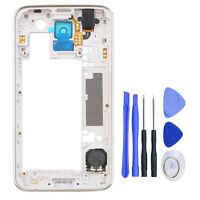 Back Housing Middle Frame Bezel Part For Samsung Galaxy S5 i9600 G900F G900H New