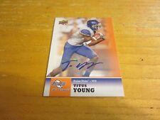 Titus Young Autographed 2011 Sweet Spot Autographs #79 Card NFL Detroit Lions