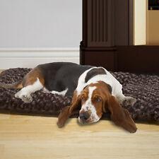 PAW Lavish Cushion Pillow Furry Pet Bed - Chocolate - XLarge