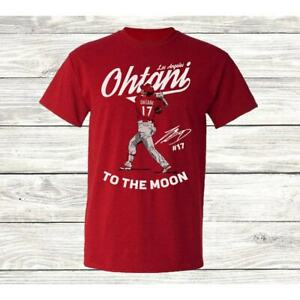 Los Angeles Angels T Shirt Shohei Ohtani To The Moon Best Gift For Fan Halloween