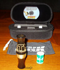 ZINK CALLS ATM GREEN MACHINE ACRYLIC DUCK CALL GOLD RUSH BRASS BAND NEW!