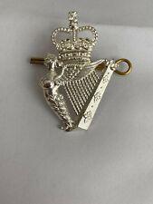More details for royal irish regiment all ranks cap badge silver