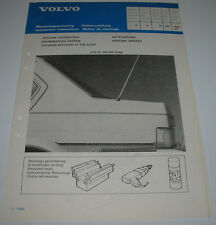 Einbauanleitung Volvo 340 / 360 Sedan Heckantenne Antenne hinten Juni 1983!
