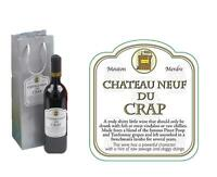 Chateau Neuf De Crap Novelty Wine Bottle Bag Funny Joke Christmas