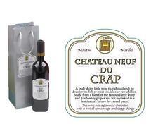 Chateau Neuf De Crap Novelty Wine Bottle Bag Funny Joke Christmas