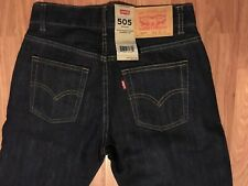 BRAND NEW w/Tags Mens LEVIS 505 Jeans Dungarees Pants Size 14 Slim  W 25 L 27