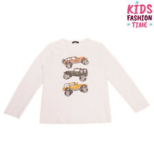 About Me T-Shirt Top Size 15-16Y Handmade Printed Cars Crew Neck Made in Italy