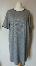 South (Very) PU Trim Geometric Dress Size 18 BNWT Monochrome Uk Freepost