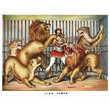 Lion Tamer Deco FRIDGE MAGNET, 1873 Circus Performers Decorative Mini Gift