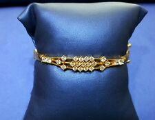 22K Yellow Gold Designer Bracelet in solid Gold Openable