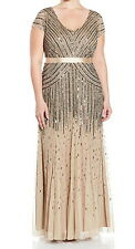 Adrianna Papell New Plus Size Cap-Sleeve Beaded Gown Size 22W MSRP $360 #2A 5
