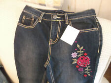 PLACE EMBROIDERED JEANS  girls size 14place