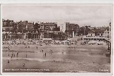 POSTCARD  DORSET Bournemouth  West Beach