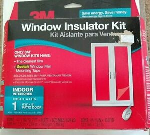 3M Indoor Patio Door Insulator Kit Fits 6 ft 8 in x 9 ft Patio Door New