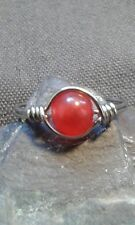 Handmade Red Ruby Gemstone Silver Wire Wrapped  Ring ANY SIZE