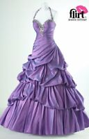 Flirt by Maggie Sottero 4 VIOLET BALLGOWN FORMAL PROM PAGEANT DRESS GOWN #P4657