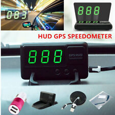 Universal GPS Speedometer HUD Head Up MPH/KM/h Plug&Play Auto Overspeed Warning