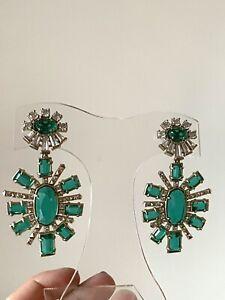 Kendra Scott Glenda Earrings in Emerald Glass