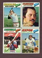 400++ 1977 Topps Ryan, Brock, Morgan, Carew, Dawson RC, Yaz, Sutter RC, Yount