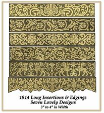 1914 Filet Lace Chart Pack Long Insertions and Edgings